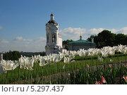 Купить «Церковь Георгия Победоносца, Коломенское, Москва», эксклюзивное фото № 5297437, снято 19 мая 2010 г. (c) lana1501 / Фотобанк Лори
