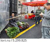 Купить «Мелкая торговля на улицах Китая», фото № 5299825, снято 26 августа 2013 г. (c) Корнилова Светлана / Фотобанк Лори