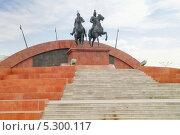 Купить «Памятник в честь казахских героев», фото № 5300117, снято 17 марта 2000 г. (c) Parmenov Pavel / Фотобанк Лори