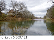 Купить «Мост на реке Псекупс», фото № 5309121, снято 18 ноября 2013 г. (c) Александр Власов / Фотобанк Лори