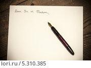 Купить «Старинное письмо и перьевая ручка», фото № 5310385, снято 15 октября 2013 г. (c) Jaromir Urbanek / Фотобанк Лори