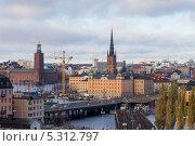 Купить «Швеция. Стокгольм. Вид на старый город со смотровой площадки», эксклюзивное фото № 5312797, снято 23 ноября 2013 г. (c) Литвяк Игорь / Фотобанк Лори