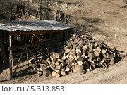 Купить «Запас дров на зиму», фото № 5313853, снято 22 ноября 2013 г. (c) Игорь Веснинов / Фотобанк Лори