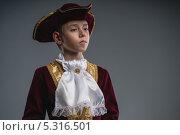 Купить «Мальчик в костюме вельможи», фото № 5316501, снято 21 мая 2019 г. (c) Виктор Водолазький / Фотобанк Лори