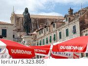 Купить «Дубровник. Рыночная площадь (Gunduliceva Poljana) в старом городе», эксклюзивное фото № 5323805, снято 20 сентября 2012 г. (c) Svet / Фотобанк Лори