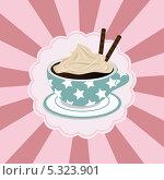 Кофе со сливками. Стоковая иллюстрация, иллюстратор Oxana  Ponomarenko / Фотобанк Лори