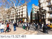 Купить «Живописные дома на улице Ла Рамбла, Барселона, Испания», фото № 5327481, снято 28 марта 2013 г. (c) Яков Филимонов / Фотобанк Лори