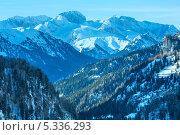 Зимний вид на гору Мармолада, Италия (2012 год). Стоковое фото, фотограф Юрий Брыкайло / Фотобанк Лори