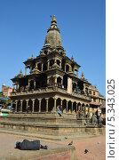Купить «Непал, Патан, храм Кришна Мандир на площади Дурбар», фото № 5343025, снято 26 октября 2012 г. (c) Овчинникова Ирина / Фотобанк Лори