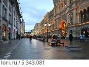 Никольская улица, Москва, эксклюзивное фото № 5343081, снято 6 декабря 2013 г. (c) lana1501 / Фотобанк Лори