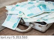 Купить «Российский тысячные купюры в чемодане», фото № 5353593, снято 23 ноября 2013 г. (c) Кекяляйнен Андрей / Фотобанк Лори