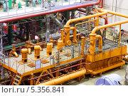 Купить «Электростанция. Турбинное отделение», фото № 5356841, снято 8 июня 2013 г. (c) yeti / Фотобанк Лори