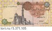 Купить «Египетские деньги. Один фунт. Оборотная сторона», эксклюзивная иллюстрация № 5371105 (c) Юрий Морозов / Фотобанк Лори
