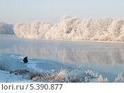 Рыбак на первом льду (2008 год). Стоковое фото, фотограф Алексей Сергевич / Фотобанк Лори