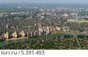 Купить «Вид на город Краснодар с высоты птичьего полета», фото № 5391493, снято 8 мая 2013 г. (c) Виктор Затолокин/Victor Zatolokin / Фотобанк Лори