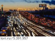 Пробка на МКАД (2013 год). Редакционное фото, фотограф Тимур Уразов / Фотобанк Лори