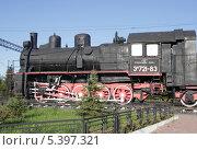 Купить «Шлиссельбург. Памятник паровозу», фото № 5397321, снято 6 июня 2008 г. (c) Корчагина Полина / Фотобанк Лори