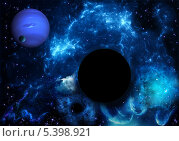 Купить «Черная дыра в космическом пространстве», иллюстрация № 5398921 (c) Наталья Спиридонова / Фотобанк Лори