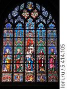 Купить «Бельгия. Брюссель. Витражи в церкви Нотр-Дам-дю-Саблон», эксклюзивное фото № 5414105, снято 7 октября 2013 г. (c) Александр Тарасенков / Фотобанк Лори