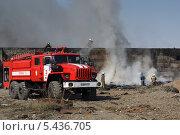 Купить «Пожарные локализуют пожар», эксклюзивное фото № 5436705, снято 25 мая 2010 г. (c) А. А. Пирагис / Фотобанк Лори