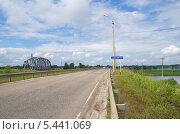 Город Осташков. Автомобильный мост через озеро Селигер (2013 год). Стоковое фото, фотограф Елена Коромыслова / Фотобанк Лори