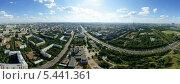 Панорама Москвы, район Гагаринский с высоты птичьего полета (2012 год). Стоковое фото, фотограф Дмитрий Бакулин / Фотобанк Лори