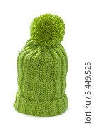 Купить «Зеленая вязаная шапка с помпоном», фото № 5449525, снято 3 января 2014 г. (c) Наталия Пыжова / Фотобанк Лори