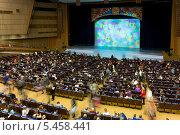 Купить «Зрительный зал Кремлёвского Дворца съездов», фото № 5458441, снято 25 декабря 2013 г. (c) Сергей Лаврентьев / Фотобанк Лори