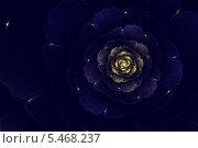 Купить «Фрактальная иллюстрация темно-синего георгина», иллюстрация № 5468237 (c) Наталия Македа / Фотобанк Лори