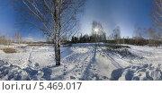 Панорама, зима, фото № 5469017, снято 18 августа 2017 г. (c) Юрий Бельмесов / Фотобанк Лори