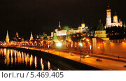 Купить «Кремлевская набережная и Кремль ночью», эксклюзивный видеоролик № 5469405, снято 10 января 2014 г. (c) Алёшина Оксана / Фотобанк Лори