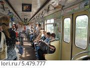 Купить «Вагон киевского метро», фото № 5479777, снято 26 августа 2006 г. (c) Малышев Андрей / Фотобанк Лори