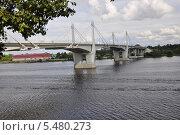 Мост в городе Кимры (2009 год). Стоковое фото, фотограф Lina / Фотобанк Лори