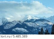 Купить «Зимний горный пейзаж (Словакия, Высокие Татры)», фото № 5485389, снято 2 марта 2013 г. (c) Юрий Брыкайло / Фотобанк Лори
