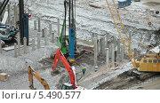 Купить «Техника на строительной площадке», видеоролик № 5490577, снято 15 января 2014 г. (c) Кекяляйнен Андрей / Фотобанк Лори
