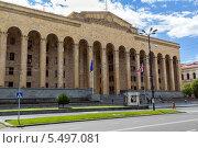 Купить «Здание парламента Грузии в центре Тбилиси», фото № 5497081, снято 3 июля 2013 г. (c) Евгений Ткачёв / Фотобанк Лори