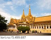 Королевский дворец в Пномпене, Камбоджа (2013 год). Редакционное фото, фотограф Юлия Бабкина / Фотобанк Лори