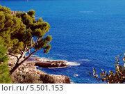 Южное море зимой. Средиземноморский пейзаж (2013 год). Стоковое фото, фотограф Марина Валентиновна Фор / Фотобанк Лори