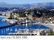 Вид на порт Ниццы с высоты птичьего полета (2013 год). Стоковое фото, фотограф Марина Валентиновна Фор / Фотобанк Лори
