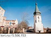 Купить «Башня ратуши. Выборг», эксклюзивное фото № 5506153, снято 3 мая 2013 г. (c) Ольга Визави / Фотобанк Лори