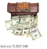Купить «Сундук с долларами», фото № 5507149, снято 1 августа 2011 г. (c) Юлия Гапеенко / Фотобанк Лори
