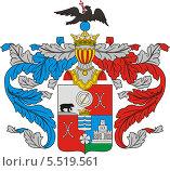 Купить «Герб рода Римских-Корсаковых», иллюстрация № 5519561 (c) VectorImages / Фотобанк Лори