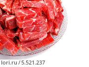 Купить «Сырая говядина резанная», эксклюзивное фото № 5521237, снято 3 августа 2012 г. (c) Blekcat / Фотобанк Лори