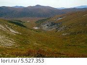 Горный перевал. Западный Саян. Стоковое фото, фотограф Сергей Кривогузов / Фотобанк Лори