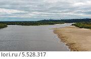 Купить «Летний вид реки Вятки возле города Кирова», фото № 5528317, снято 9 августа 2009 г. (c) Alexey D. / Фотобанк Лори