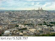 Вид с Эйфелевой на Париж (Франция) (2013 год). Стоковое фото, фотограф Евгений Андреев / Фотобанк Лори