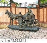 Купить «Казань. Памятник водовозу», фото № 5533841, снято 1 июня 2013 г. (c) ИВА Афонская / Фотобанк Лори