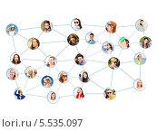 Купить «виртуальная социальная сеть на белом фоне», фото № 5535097, снято 15 октября 2018 г. (c) Syda Productions / Фотобанк Лори