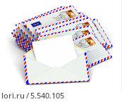 Купить «Почта. Стопка конвертов и пустые письма», иллюстрация № 5540105 (c) Maksym Yemelyanov / Фотобанк Лори
