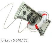 Купить «Финансовая помощь. Спасательный круг и доллары», иллюстрация № 5540173 (c) Maksym Yemelyanov / Фотобанк Лори